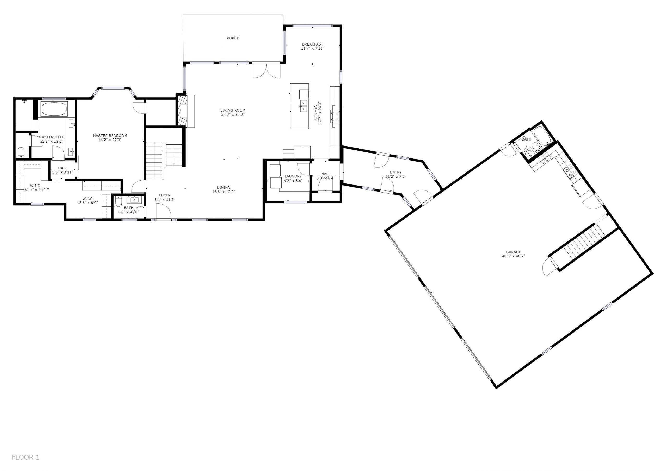 11634 TURKEY CREEK ROAD KNOXVILLE, TN 37934 - Floor Plan 1