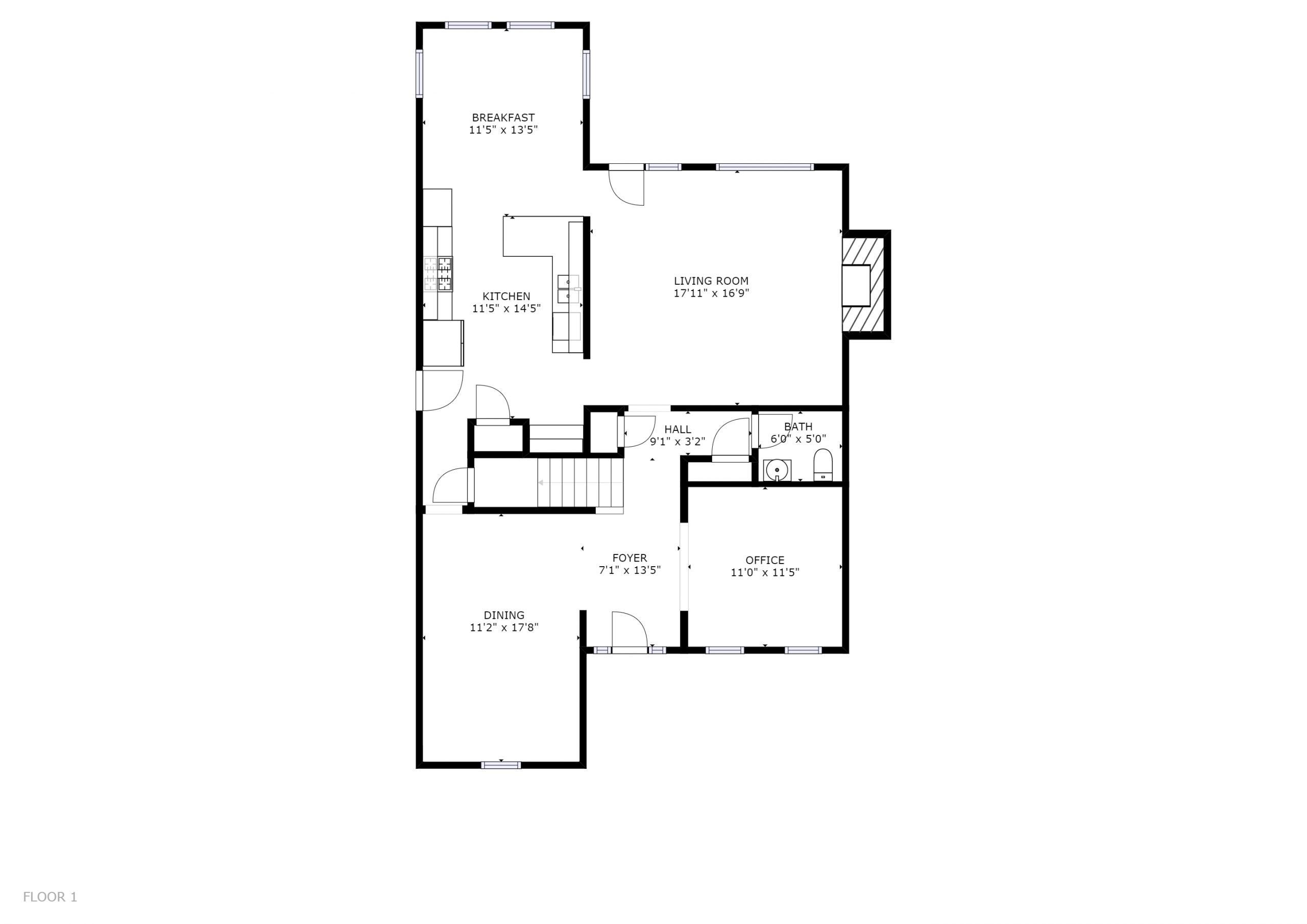 706 BAYSHORE DRIVE KNOXVILLE, TN 37934 - Floor Plan 1