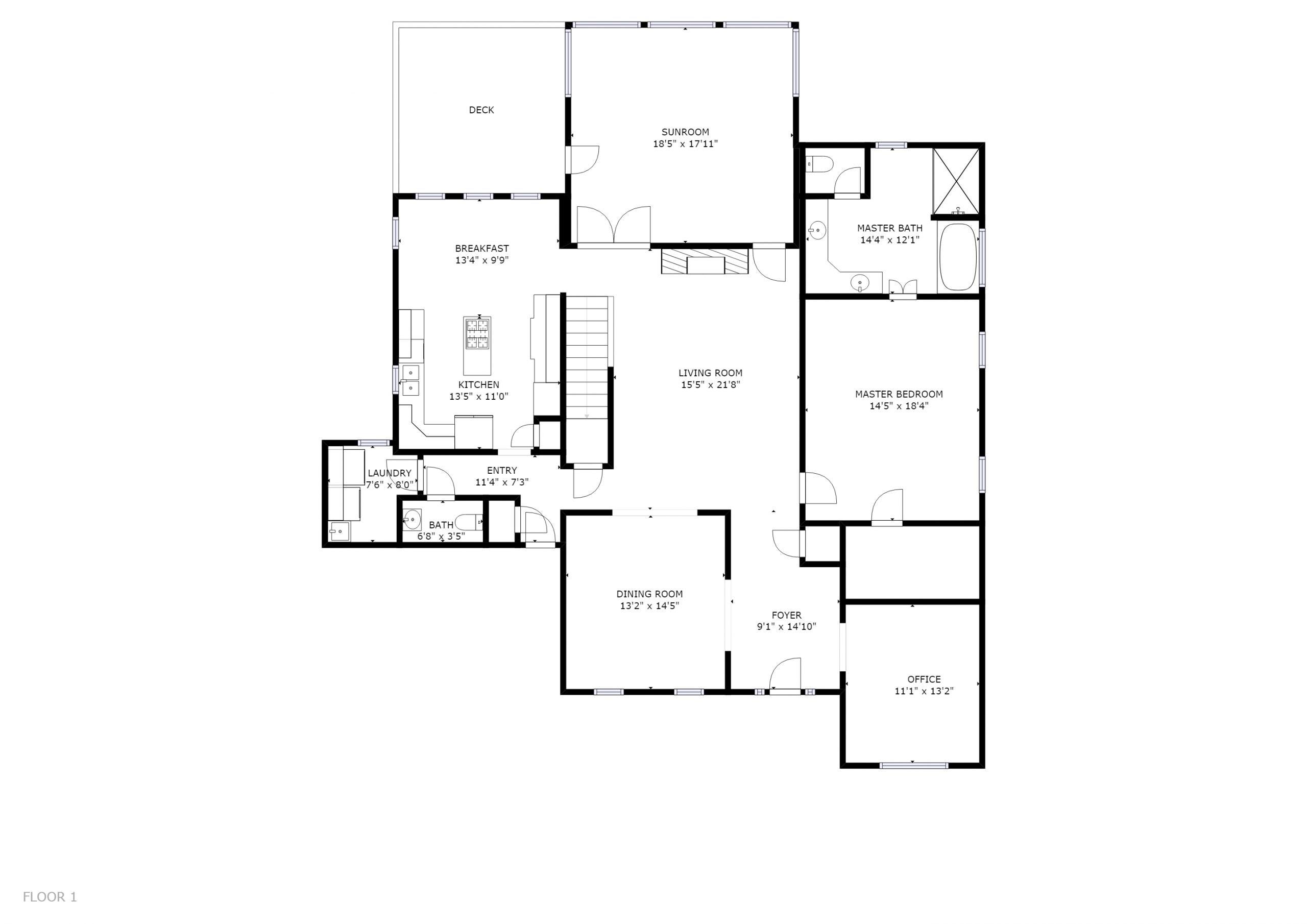 826 BAYSHORE ROAD KNOXVILLE, TN 37934 - Floor Plan 1